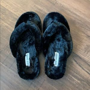 Black Steve Madden house shoes